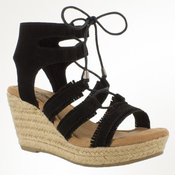 Leighton Lace Up Wedge Sandal
