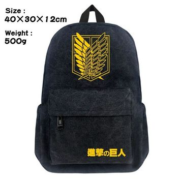 Cool Attack on Titan New  Wings of Liberty School Backpack Student Bookbag Cosplay no  Shoulder Laptop Travel Bags AT_90_11