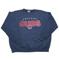 Vintage Lee Sport Chicago Cubs Crewneck Sweatshirt Mens Size Large