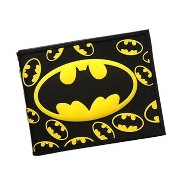 Batman Dark Knight gift Christmas 3D Batman Series Cartoon Wallet The Avengers Super Hero Batman Wallet For Teen Boy Girls Leather Purse Card Holder Comics Wallet AT_71_6