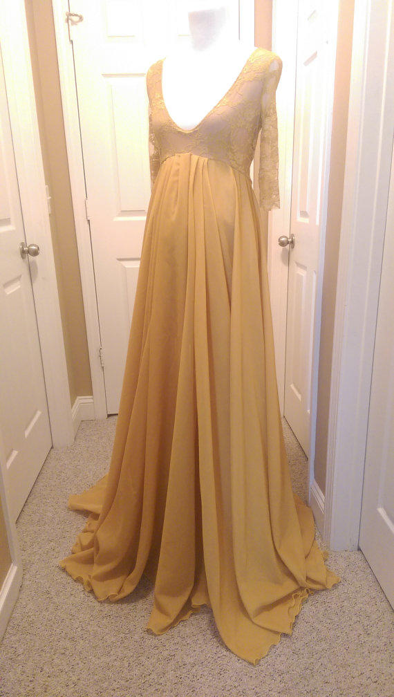 Rental Chiffon Maternity Gown Maternity from JandLDesignsboutique
