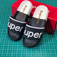 Supreme Suprize Design Black White Sandals - Best Online Sale