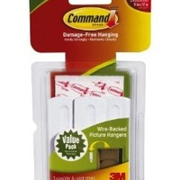 Command Wire-Backed Picture Hangers, 3-Hanger