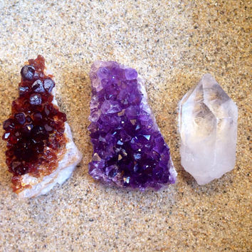 Crystal Set Crystal Collection Raw Crystal Healing Crystals and Stones Bohemian Decor Alter Crystals Reiki and Chakra Healing Yoga Stones