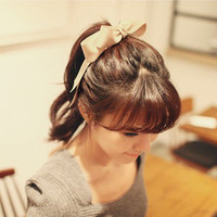Ribbon Bow Women Birthday Gift Casual Jewelry Accessories Hair Clip Band _ 2020