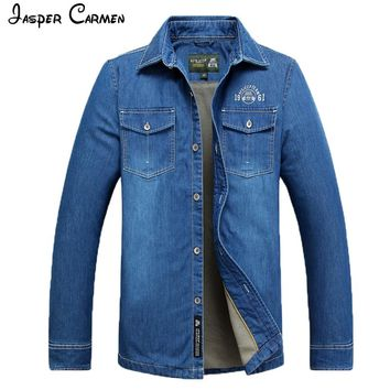 Jasper Carmen Men's Long-Sleeve Denim Shirt