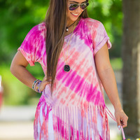 Fit To Be Tie-Dyed Top-Fuchsia/Purple/Peach – Simply Dixie Boutique