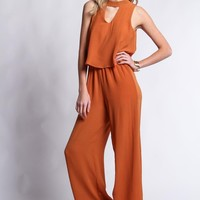 Janey Mock Neck Jumpsuit