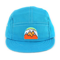 NEW Vintage Style Blue Linen SUMMER 5 Panel Walter Hat