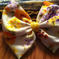 Large floral hair bow accessory for any age by AcuteStrands