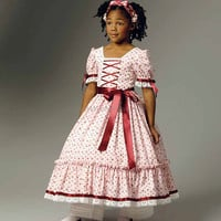 Civil War Era Dress for Little Girls - Butterick 5900 - sz 2-5