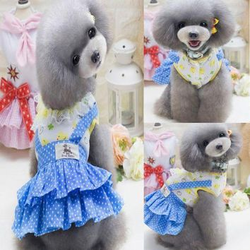 PEAPON Dog Dress Pet Clothes Small Dog Wedding Dress Puppy Skirt Summer Pet Clothing Chihuahua Poodle Clothes Princess Skirt
