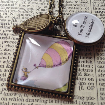 Dr. Seuss Oh the Places You'll Go move mountains necklace