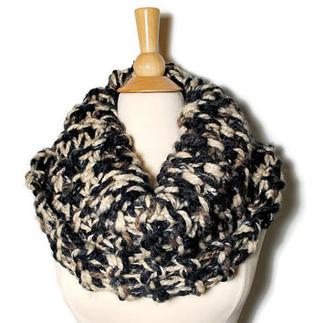 Outlander Claire Cowl -  Infinity Scarf - Winter Accessories - Hand Knit Scarf