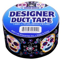 JFL 2536 Sugar Skulls Duct Tape 1.88 in X 10 yds (48 mm x 9.114 m)