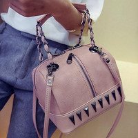 Retro Women Small River Leather Bag Leather Messenger Bags Vintage Crossbody Shoulder Handbag Gift