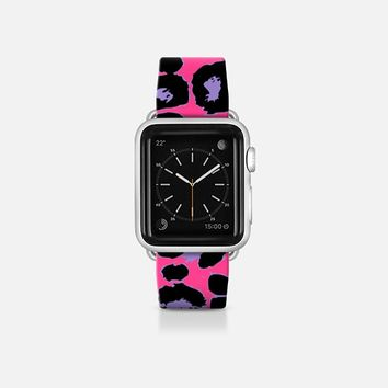 Pink Purple Pop Leopard Apple Watch Band (38mm) by Organic Saturation | Casetify
