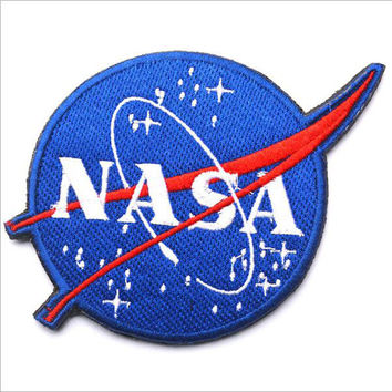 3d Embroidery Cloth Paste Nasa / Nasa -Sided Patch Armband Badge Military Patches Badges Morale Patches