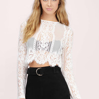 Le Bain Lace Crop Top