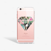Hipster iPhone 6 Case Clear Hipster iPhone 6s Case iPhone 6s Plus Case Clear Tropical Floral iPhone Case Hipster iPhone 6s Case Hawaii
