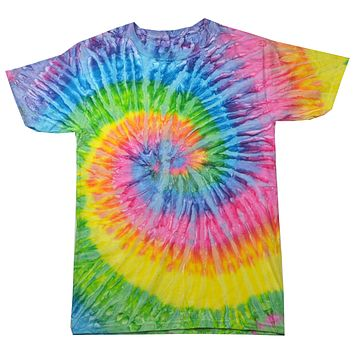 Colorful Tie Dye Multi Color Patriotic Shirt