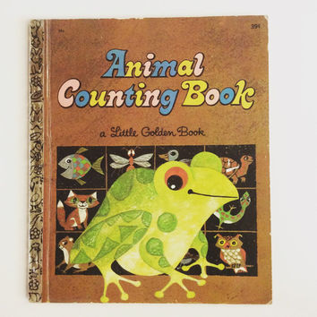 Animal Counting Book - Vintage Little Golden Book