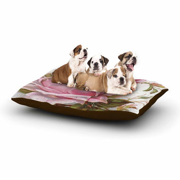 "Suzanne Carter ""Vintage Rose"" Pink Floral Dog Bed"
