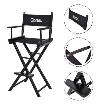 Folding Wooden Makeup Director Artist Chair Beech Wood Portable Professional New