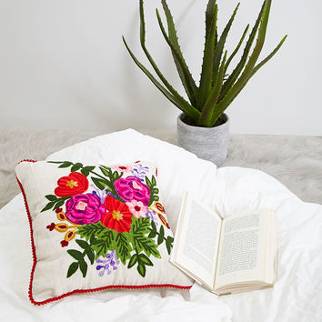 Karma Living Floral Pillow