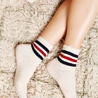Classic Boy Stripe Textured Sock- Neutral Multi One