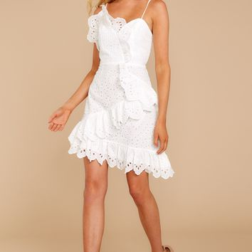 Give Them A Look White Lace Dress
