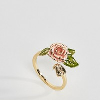 Bill Skinner Gold Plated Vintage Rose Ring at asos.com