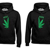 Best Buds Pot Leaf Left Matching Smoking Marijuana Leaf 420 Weed Smokers
