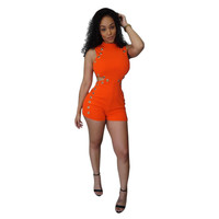 Keyhole Cut-Out Rompers Jumpsuits