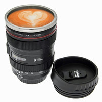 Stainless Steel Camera Lens Coffee Mug