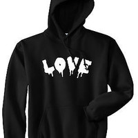 Kings Of NY Love Goth Blood Font Hate Pullover Hoodie Sweatshirt