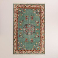 Boho Hand-Knotted Wool Lille Area Rug