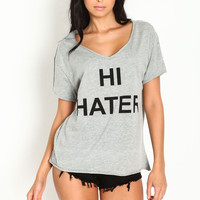 Oversize Hi Bye Hater Graphic Tee