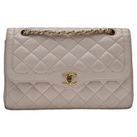 Chanel Vintage Half Flap Bag - What Goes Around Comes Around - Farfetch.com