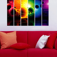 Outer Space Planets - Vinyl Wall Decal Full Color Sticker Decor Removable Art Mural www.uBerDecals.ca B356