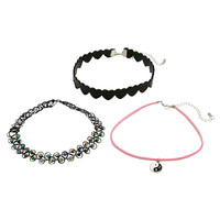 Blackheart Yin-Yang Heart Tattoo Choker Set