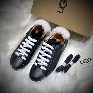 Ozlana Ugg The Fluffy Loafer Black Sneakers - Best Online Sale
