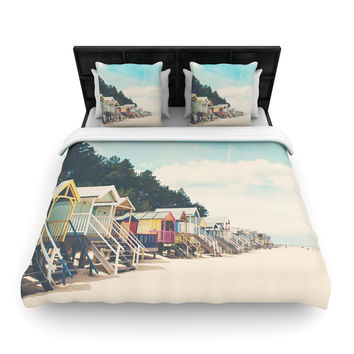 "Laura Evans ""Small Spaces"" Beach Coastal Woven Duvet Cover"