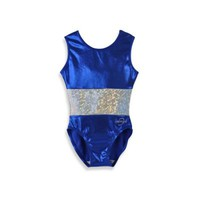 Obersee Kids Gymnastics Leotard in Royal Band