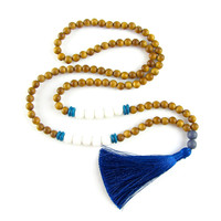 Boho Tassel Necklace - Mediterranean Blue