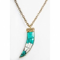 BD Designs Turquoise Horn Necklace