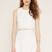 Contemporary Floral Lace Top | Forever 21 - 2000160649