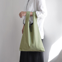 Everyday shopping bag, reversible bag, boho bag, simple everyday market bag