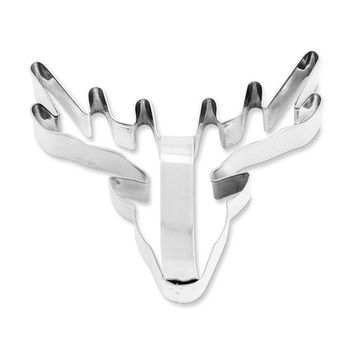Stag Head Stainless-Steel Cookie Cutter with Handle