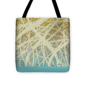 "abstract-art-Follow Your Heart Tote Bag 16"" x 16"""
